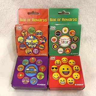 ✔️Reward Motivation Stickers Box Used By Teacher And Parents