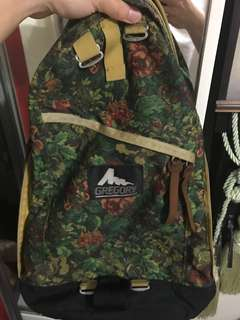 Gregory Backpack USA 🇱🇷 黃花 絕版 舊logo