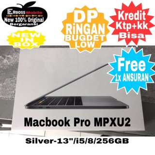 "Apple Macbook Pro MPXU2-Silver/13""/i5/8/256GB-New kreditan Call/Wa;081905288895"