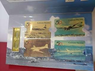 國泰50週年絕版電話卡 Cathay Pacific Phone Card