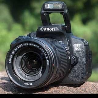 Camera Canon Dslr 700D Bisa di cicil Tanpa kartu credit cukup bayar 950ribu
