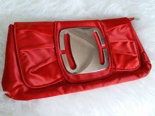 Red Sexy Preloved Clutch Tas Pesta