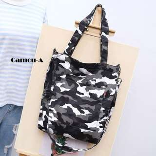 Camou-A Canvas Tote Bag.