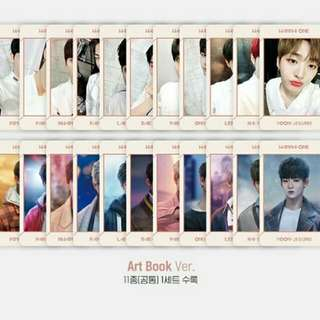 [LOOSE] WANNA ONE UNDIVIDED ART BOOK VER PHOTOCARDS