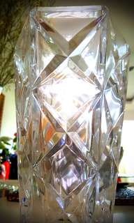 Crystal flower vase
