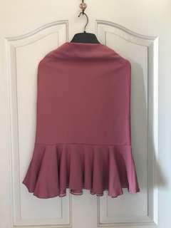 乾燥玫瑰色魚尾裙