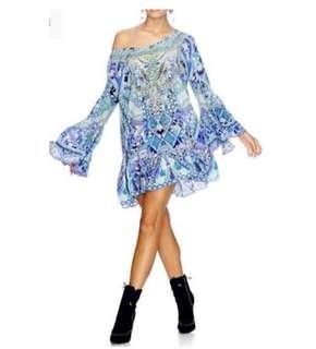 Camilla Blue Market A Line Frill Dress