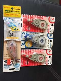 日本正板改錯帶 5mmx2 及 6mmx1 Tombo correction tape