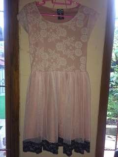 dress pesta pink lace tutu skirt