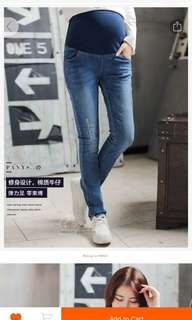 Blue maternity jeans