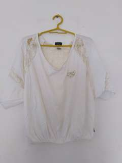 Fubu lace-back blouse