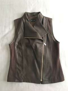 Genuine soft lambskin leather vest