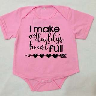 Baby Romper - I Make My Daddy's Heart Full