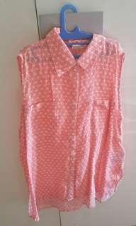 Roxy pink sleeveless top