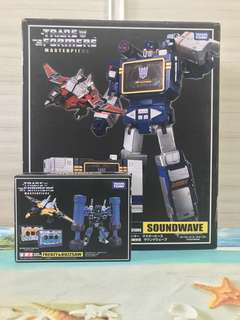 Transformers Takara Masterpiece MP13 Soundwave and KO MP16 Frenzy and Buzzsaw