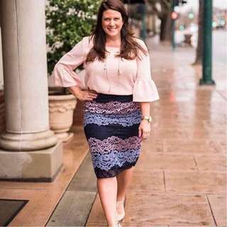 Plus Size Terno Top and Skirt 01 - COD