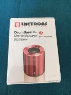 Lifetrons drumBass metallic speaker