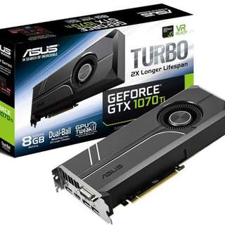 ASUS Turbo GeForce GTX 1070 Ti Graphics Card - SKU: TURBO-GTX1070TI-8G