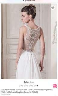 Wedding gown (A line princess V neck)