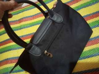 Michaela sling and hand bag navy blue :)