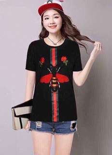 🌺Gucci inspired top  🌻Cotton   💐two colors (white,black )  🌷fit Sto L (One Size) 🎀Good Quality 💕 *c.o.u