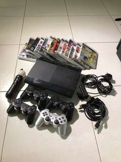 Sony ps3 500gb with many games!