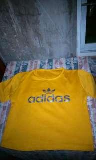 Adidas Croptop (mustard-orange)