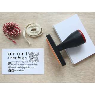 Business Name Card Stamp - Custom Business Stamp