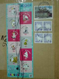 Moomin sticker stamp