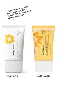 Innisfree UV protection SPF 35 / SPF 50