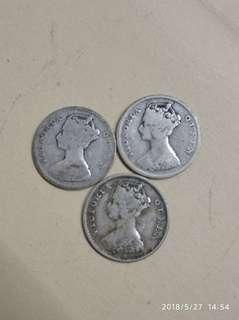1899年 一毫港幣1只. 1900年1隻 1901年1只共收230元 包真銀製品