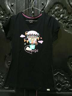 Surfer Girl Black Tees