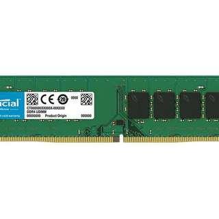 Crucial 8G (1x8GB) DDR4 2400MHz Desktop RAM - SKU: CT8G4DFD824A