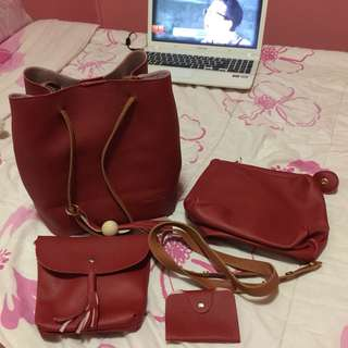 •brandnew• 4 in 1 Red Bag