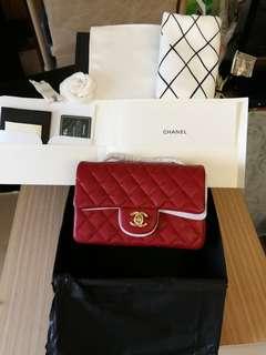Chanel mini coco20紅金荔