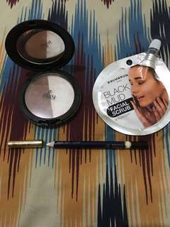 Satu Paket Facial scrub highlight & shading eye liner