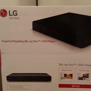 LG BP250 Blu-ray Disc/ DVD player