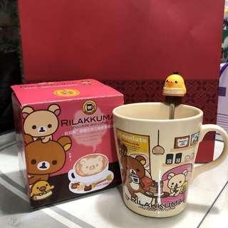 🚚 拉拉熊Rilakkuma甜蜜巧克力咖啡馬克杯(全新附盒)