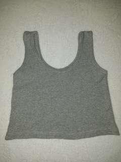 Gray Sleeveless Crop Top