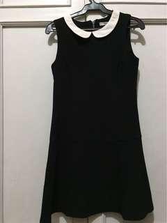 MNG Black Peplum Dress