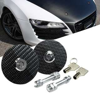 BONNET HOOD PIN KIT CARBON KEY LOCK JDM