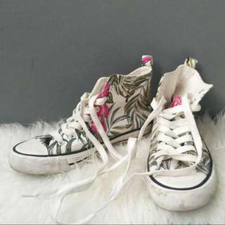 Floral high sneakers Reprice