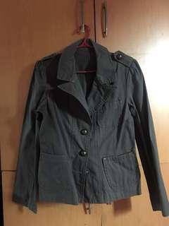 Korean Style Blazer Sml, Dark Gren