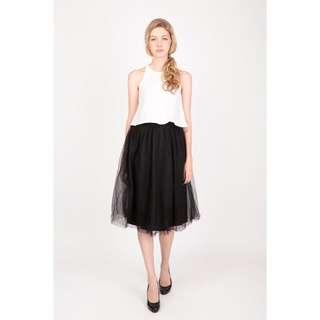 A For Arcade Cloud Nine Tulle Midi Skirt in Black