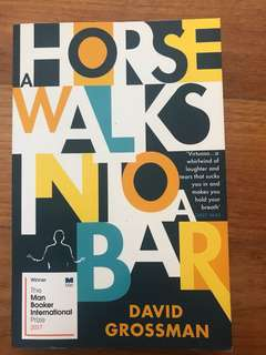 Man booker prize winner - A Horse Walks into a Bar - David Grossman