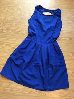 Blue Dress with back detail