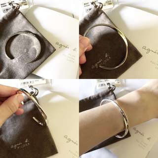 Agnes b 925純銀Bracelet 手鐲(手呃)
