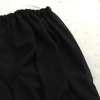 See thru long skirt