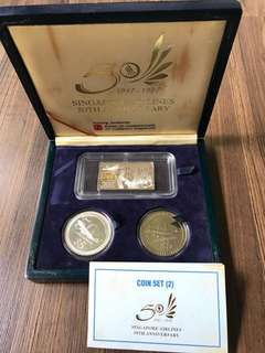 S102 - Singapore Airlines 50th Anniversary Coin set