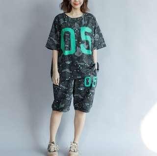 #省錢團購服飾  74502 #寬鬆大碼套装   尺码:大尺寸均碼  颜色:圖片色